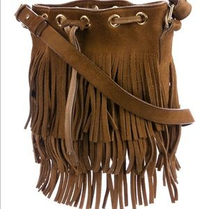 Saint Laurent bucket bag with suede fringe